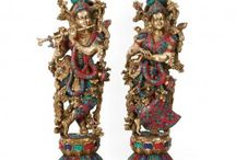 Hindu Divine Love Couple Lord Radha Krishna God Goddess Idol Decorative Statue | Home Decor Idol Sculpture