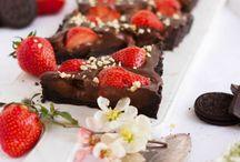 Schokoladentarde  mit Erdbeeren ohne backen