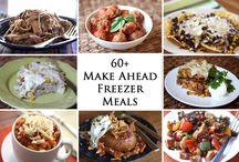 Make ahead meals/freezer