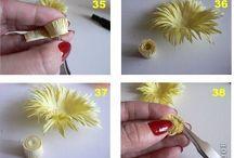 Цветы из бумаги + мк