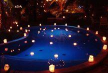 velas flutuantes