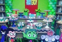festa jovens titans decoração