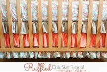 ruffled crib skirt.