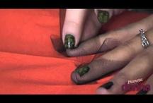 tutorial make-up and nail decoration