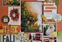 Fall Scrapbook layouts