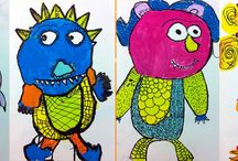 Art at School / Art ideas and diy crafts for the classroom.