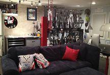 Oficina caseira / Oficina para manutenção de bicicletas