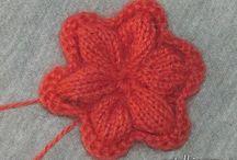 flores em tricot
