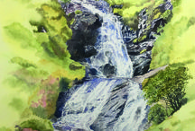 Lesley Linley, Watercolour Artist / Lesley Linley, Watercolour Artist, Isle of Skye featured in Issue One of Skye Makers magazine  Watercolour painter specialising in waterfalls and landscapes of Skye.  Studio, open all year round, is situated opposite the golf course at Sconser.  Originals, cards and prints for sale.  Workshops in studio (max 4 people), larger groups at other venues.