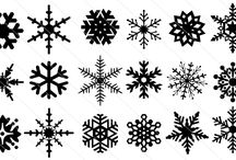 Snowflake Silhouette / Do you need amazing snokeflake for your winter designs? Here, a collection of 20 exclusive Snokeflakes silhouette, each varies in design.