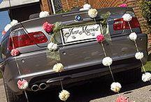 Wedding Car Decorations / Make your getaway car pretty!