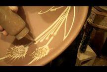 pottery    ( slip decorating )