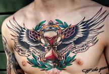 Chest Tattoos / http://fabulousdesign.net/chest-tattoos/