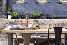 Industrial Warehouse/Loft Interior Design Style / Industrial style shuns colour and is minimalistic with rough and ready finishings. Homes often have large metal window frames, exposed brickwork and recycled furniture. Industrial homes often include statement lighting such as low-hanging pendants and naked bulbs, and colours are neutral and monochrome.