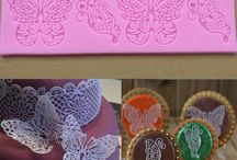 Silicone lace mats for cakes