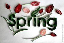 Spring / Tavasz / quilling / A tavasszal kapcsolatos képeket gyűjtöm ide. A húsvétot külön táblára gyűjtöm!