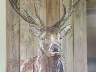 hout beschilderen en branden