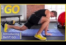 "BeFit GO -- Exercise workouts on the go / These are high intensity workouts designed for your mobile device: is an exclusive look at the brand new ""BeFiT GO"" Series which is a series of high intensity, total body-conditioning circuits exclusively on YouTube, that are designed to be done anywhere and are optimized specifically for your mobile device. Now you can finally take your workout routines with you on the go and get amazing results. / by BeFit"