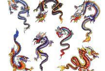 dragons tattos