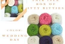 Fair Isle Box of Itty Bitties / Our Fair Isle Box of Itty Bitties comes with 9 mini cakes of our sport weight cashmere. / by Lux Adorna Knits