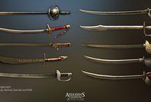 Antique guns and swords