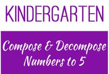 Kindergarten: Compose and Decompose Numbers to 5 / This board contains resources for Texas TEKS K.2I