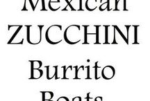 Zucchini burrito