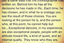 about dance