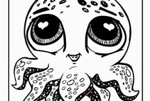 Глазастые животные раскраска