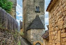 Slott i Dordogne, Frankrike