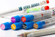 Smencils / Made from 100% recycled newspapers! Gourmet scented pens, pencils and markers.
