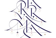 merry christmas Type & Lettering