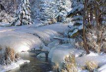 ruisseau en hiver