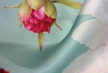 "Silk. Soie / Silk scarves collection ""Peonies"""