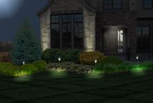 Lighting Designs created using PRO Landscape design software / PRO Landscape design software can create night and holiday lighting from a picture you took during the day.