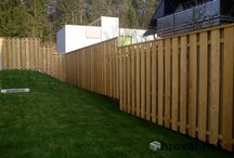 Wooden garden fence - Lesene vrtne ograje / Wood is an irreplacable element when we talk about garden fence. We use impregnated spruce, Siberian larch, thermowood and other log lasting materials.