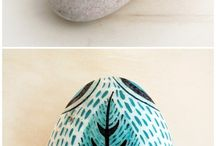 Painted Rocks & Clay Shapes