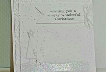 carte de Noel blanche