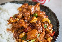 Asian stir-fry consisting of chicken,
