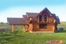 Case di tronchi di legno
