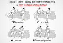 cvičení v posteli/na gauči