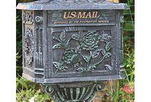 Iron post box