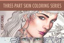 Forslag til å fargelegge hudtoner