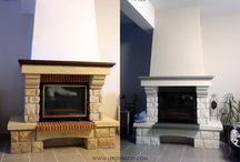 cheminée rénovée