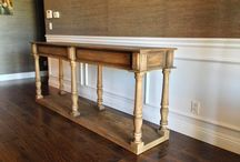 Custom made wood pieces. / Looking for a great dining table, cabinet or coffee table? Visit is.  We specialize in reclaimed wood and modern sleek styles as well.