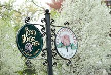 Pond House Cafe Grounds / The Pond House Café meticulously maintains the grounds immediately surrounding the building including dozens of flower gardens and our own vegetable and herb garden.