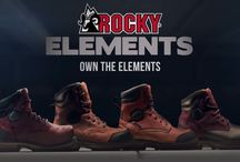Rocky Elements Collection / Boots made specifically for your trade and your job elements: Dirt, Wood, Steel & Block / by Rocky Boots