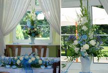 Slub na Niebiesko / BLUE Wedding / Jeżeli szukacie oryginalnego pomysłu na dekoracje Waszego ślubu i wesela, koniecznie musicie obejrzeć poniższe zdjęcia. Ten wyjatkowy niebieki Slub odbyl sie w latem w Palacu w Zwartowie. Oprawa florystyczna zajela sie oczywiscie Kwiaciarnia KAJA :)
