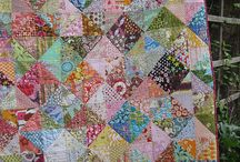 Scrappy quilts, waste not want not