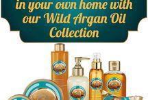 Wild Argan Oil Range / INDULGE IN GOLDEN RADIANCE NEW WILD ARGAN OIL BATH & BODYCARE RANGE